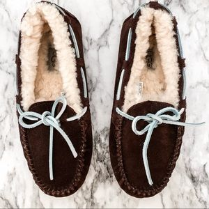 Ugg Brown Dakota Moccasin Slippers